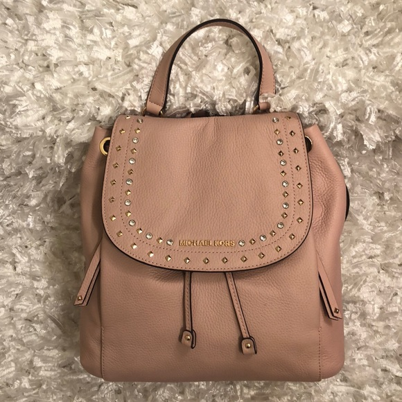 61a17e0f9d6e Michael Kors Bags | Sale Riley Backpack In Pastel Pink | Poshmark